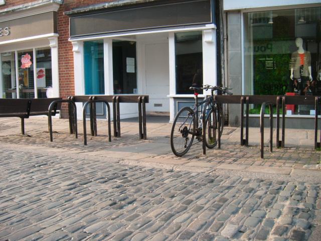 Bike locked up on East St