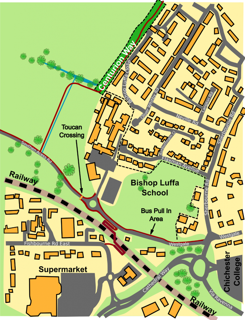 Whitehouse Farm Draft Plan Proposal for diversion to South Coast Cycle Route