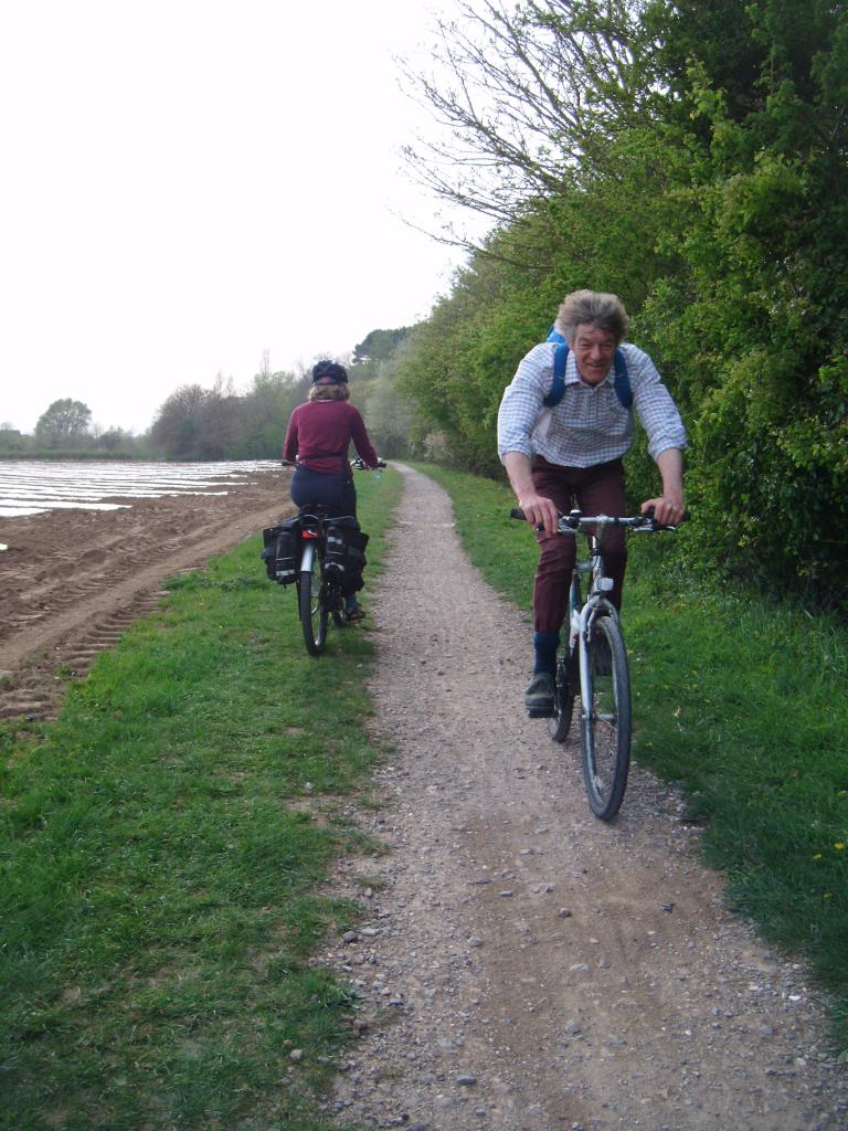 Cyclists using Saltern's Way