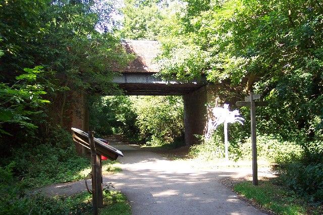 Centurion Way as it passes beneath Brandy Hole lane