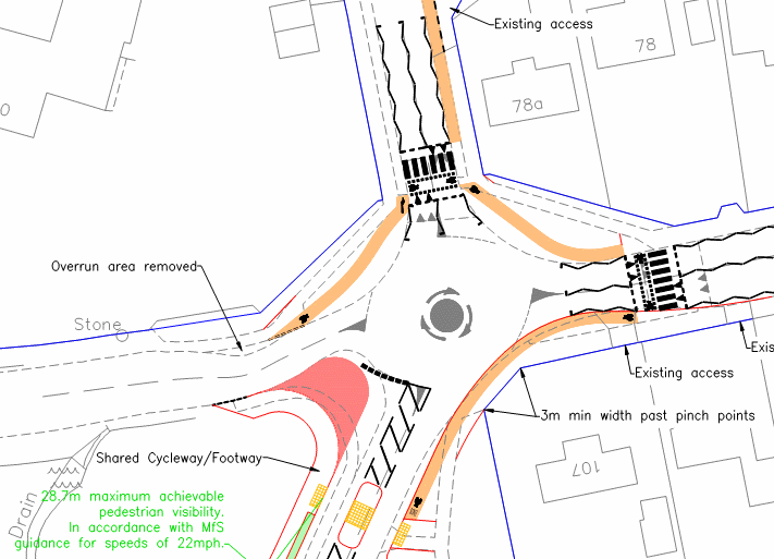 Sherbourn Rd Roundabout
