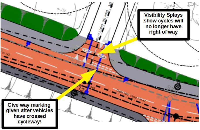 New Priority at Spine Road Junctions