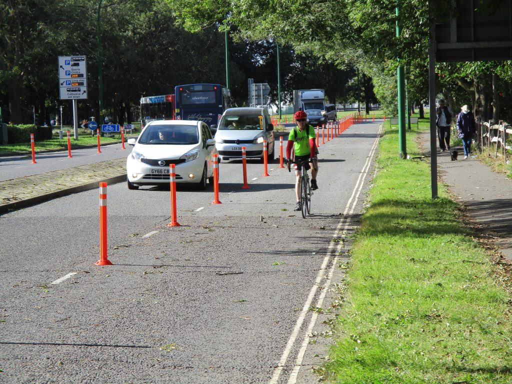 Pop-Up Cycle Lane by Multistorey Car Park