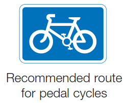 Recomended route for Cyclists